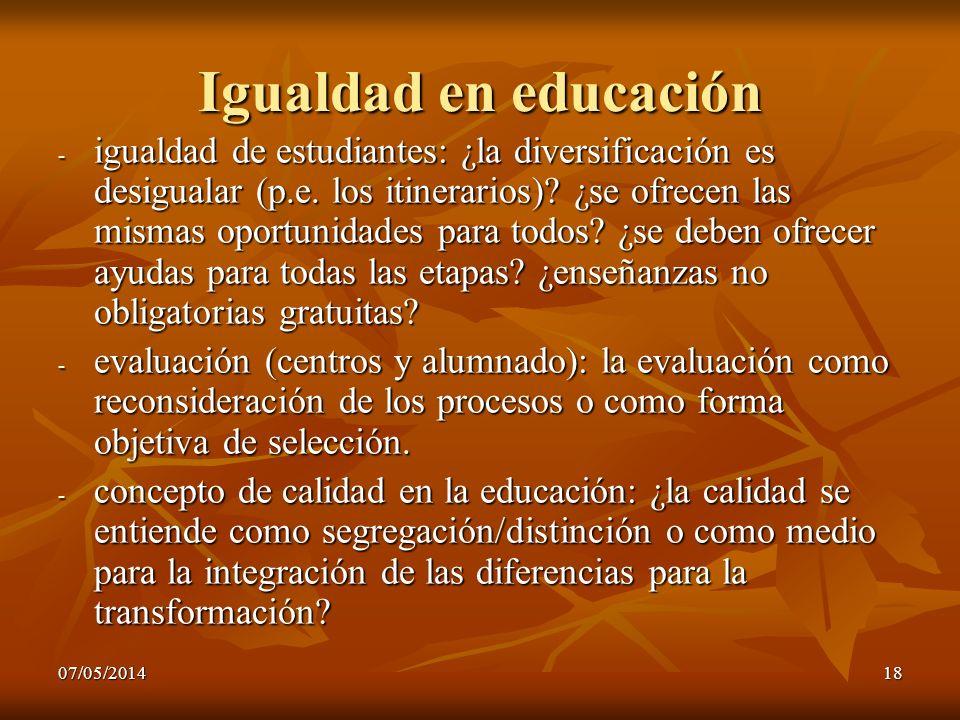 Igualdad en educación