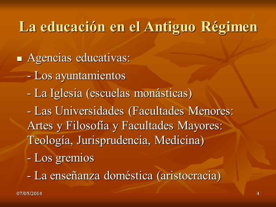 La educación en el Antiguo Régimen