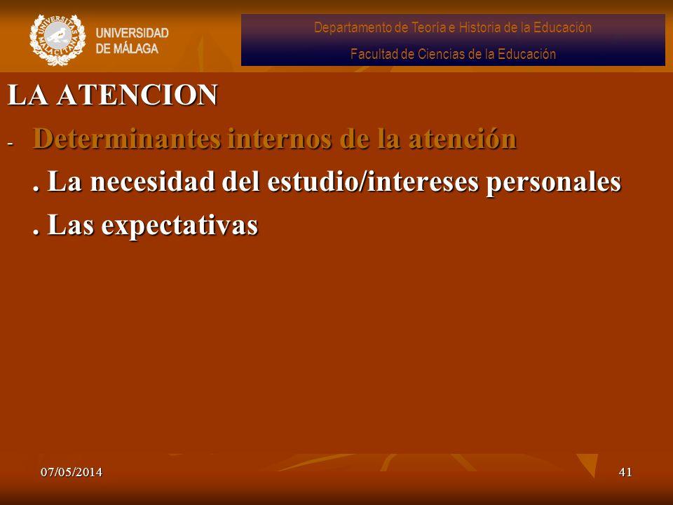 Determinantes internos de la atención