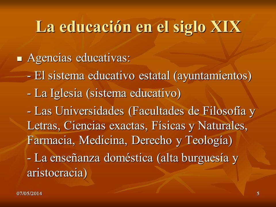 La educación en el siglo XIX