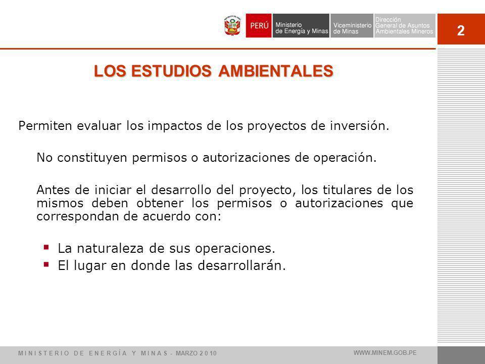 LOS ESTUDIOS AMBIENTALES