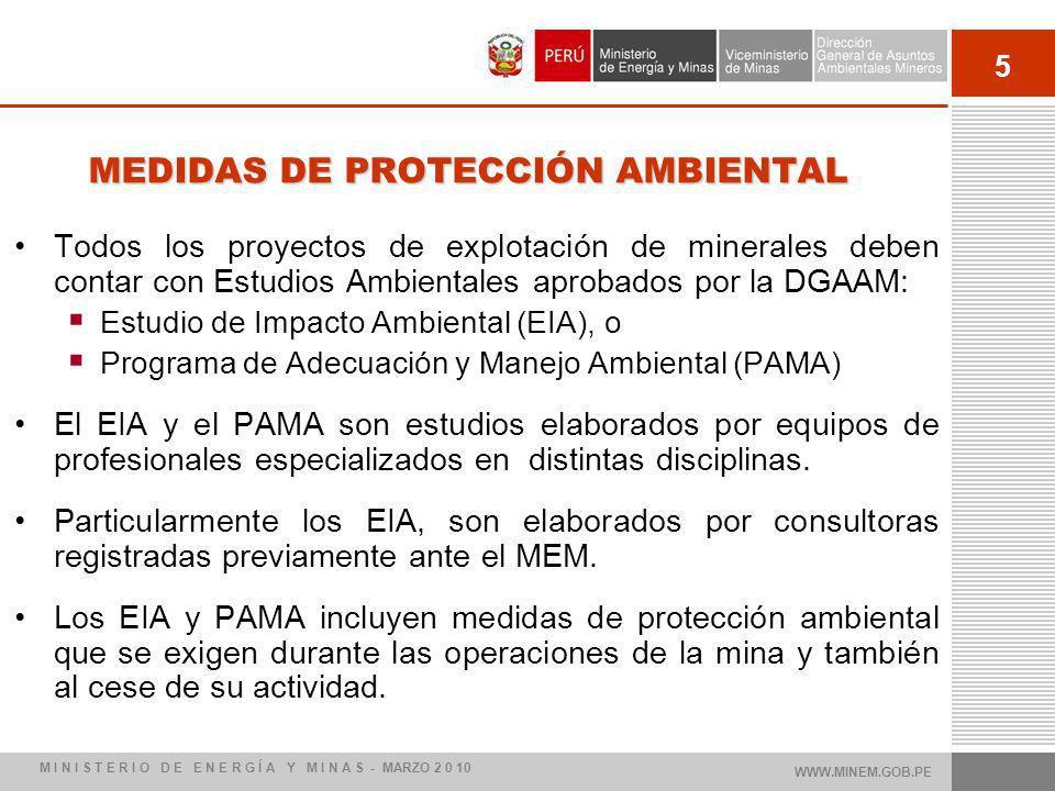 MEDIDAS DE PROTECCIÓN AMBIENTAL