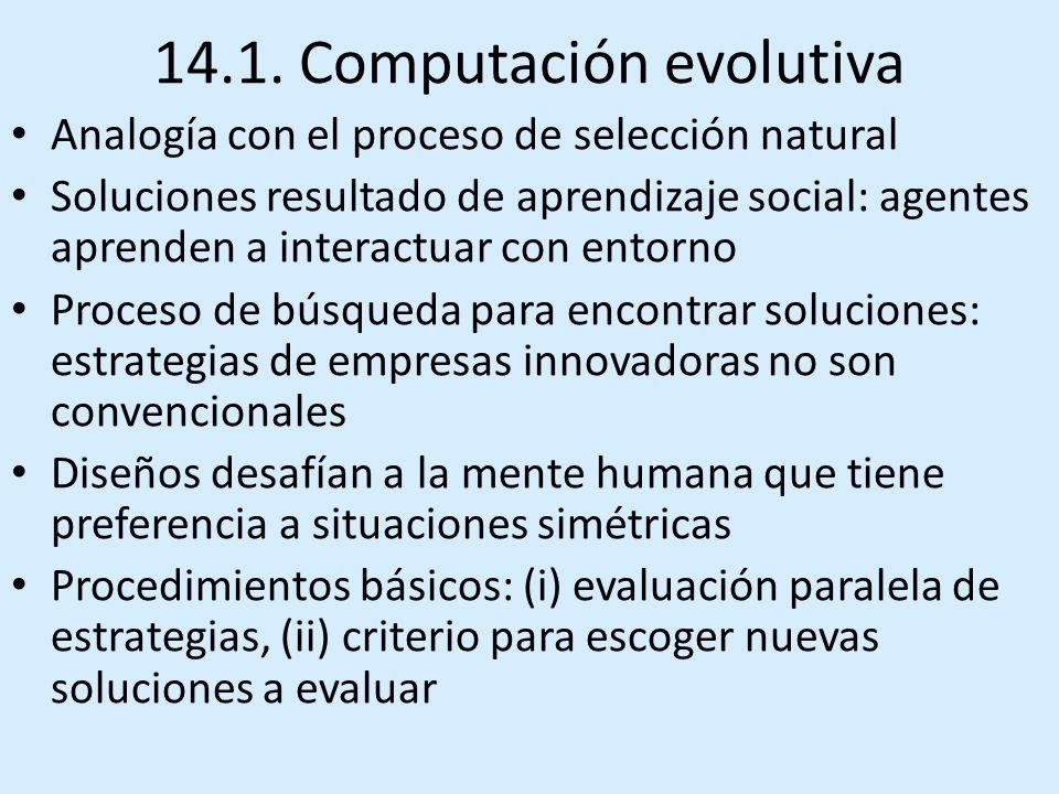 14.1. Computación evolutiva