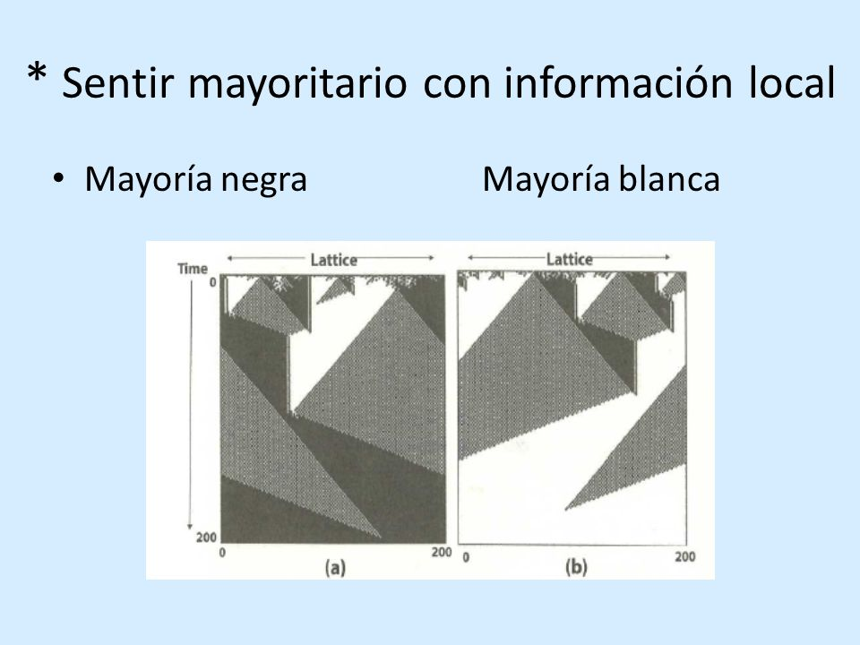 * Sentir mayoritario con información local