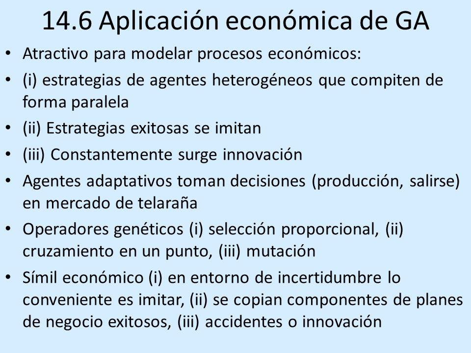 14.6 Aplicación económica de GA