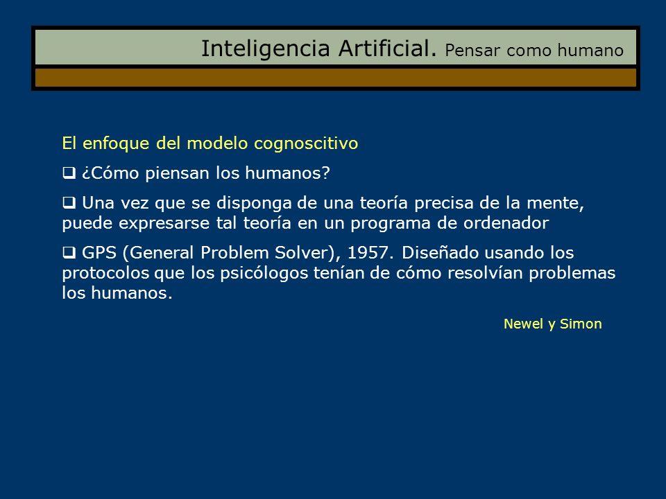 Inteligencia Artificial. Pensar como humano
