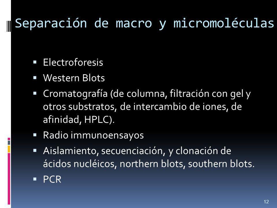 Separación de macro y micromoléculas