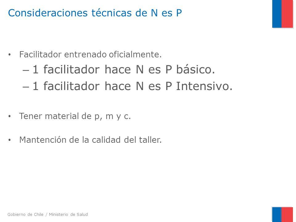 Consideraciones técnicas de N es P