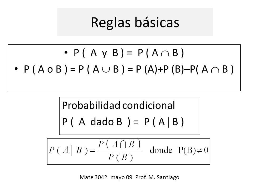 P ( A o B ) = P ( A  B ) = P (A)+P (B)–P( A  B )