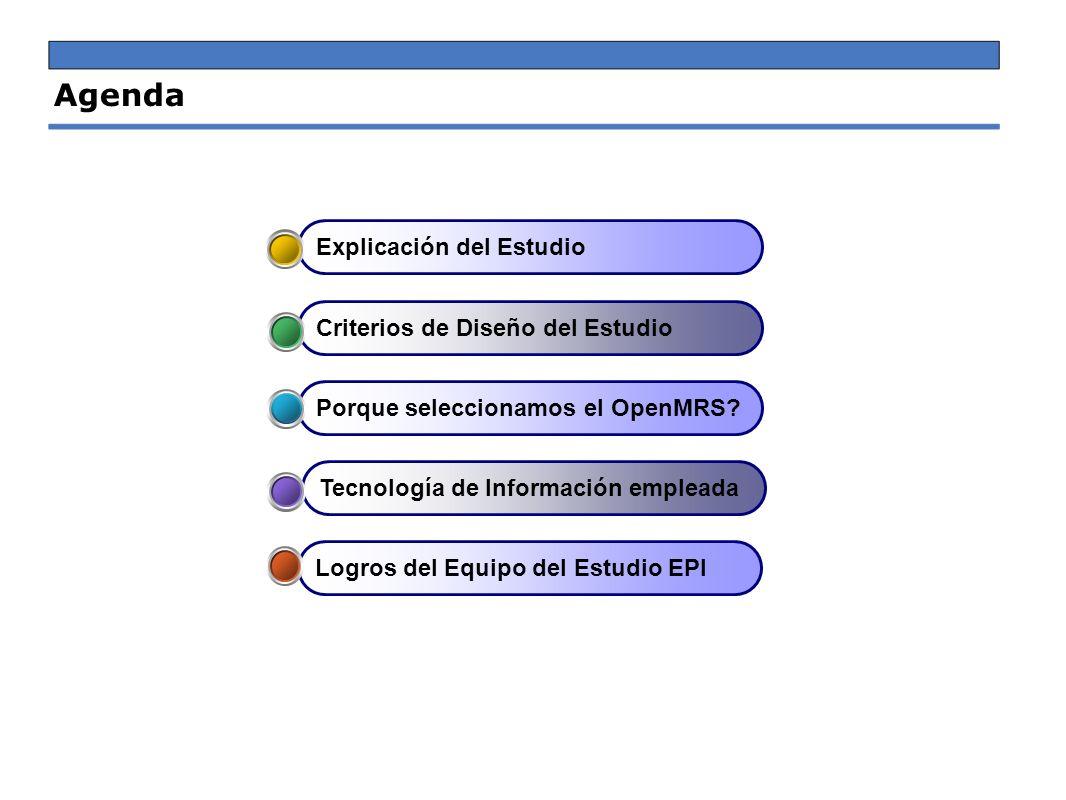 Agenda Explicación del Estudio Criterios de Diseño del Estudio