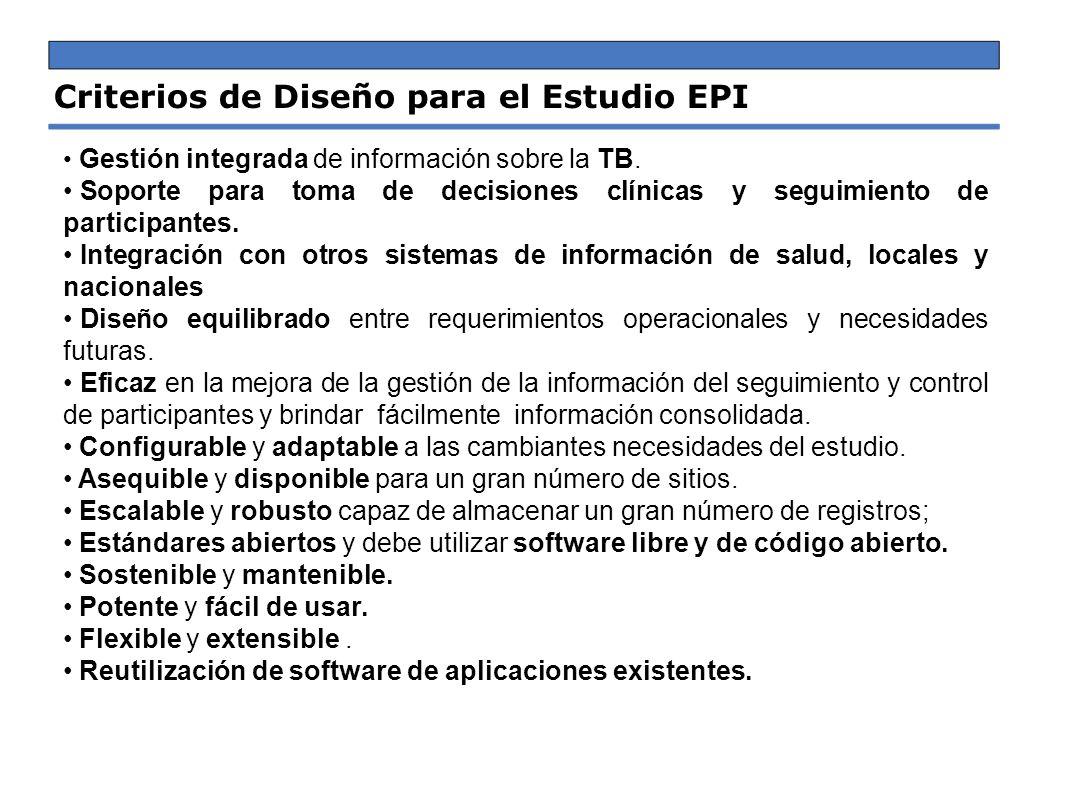 Criterios de Diseño para el Estudio EPI