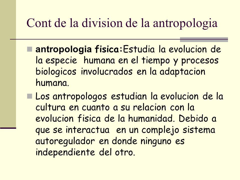 Cont de la division de la antropologia