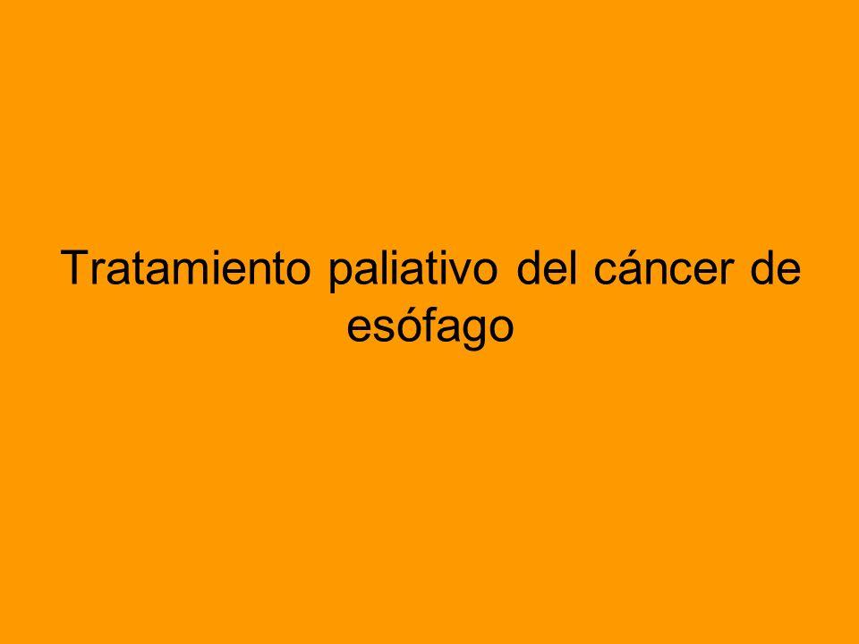 Tratamiento paliativo del cáncer de esófago