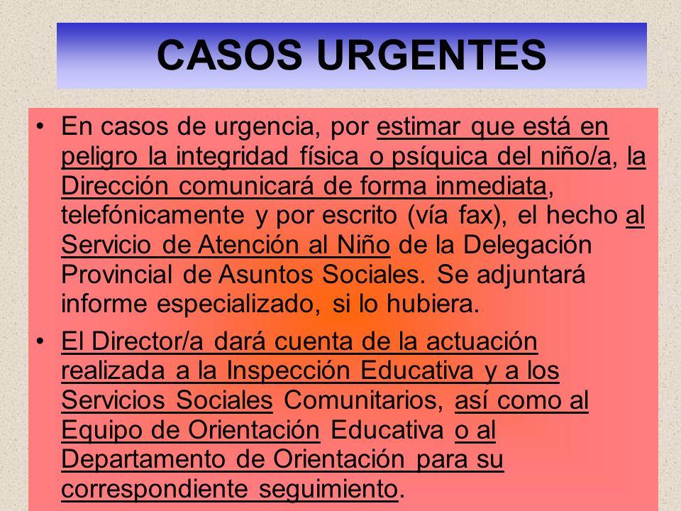 CASOS URGENTES