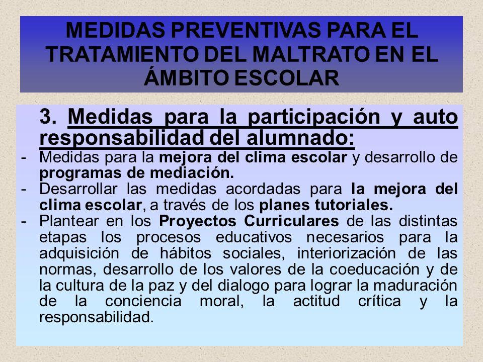 MEDIDAS PREVENTIVAS PARA EL TRATAMIENTO DEL MALTRATO EN EL ÁMBITO ESCOLAR
