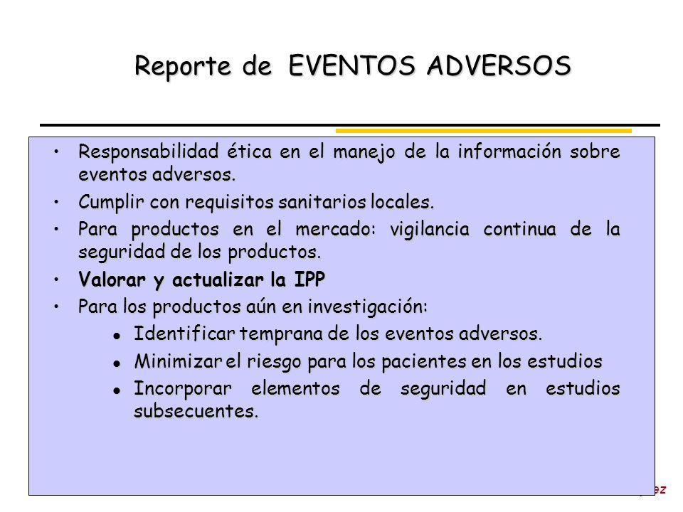 Reporte de EVENTOS ADVERSOS