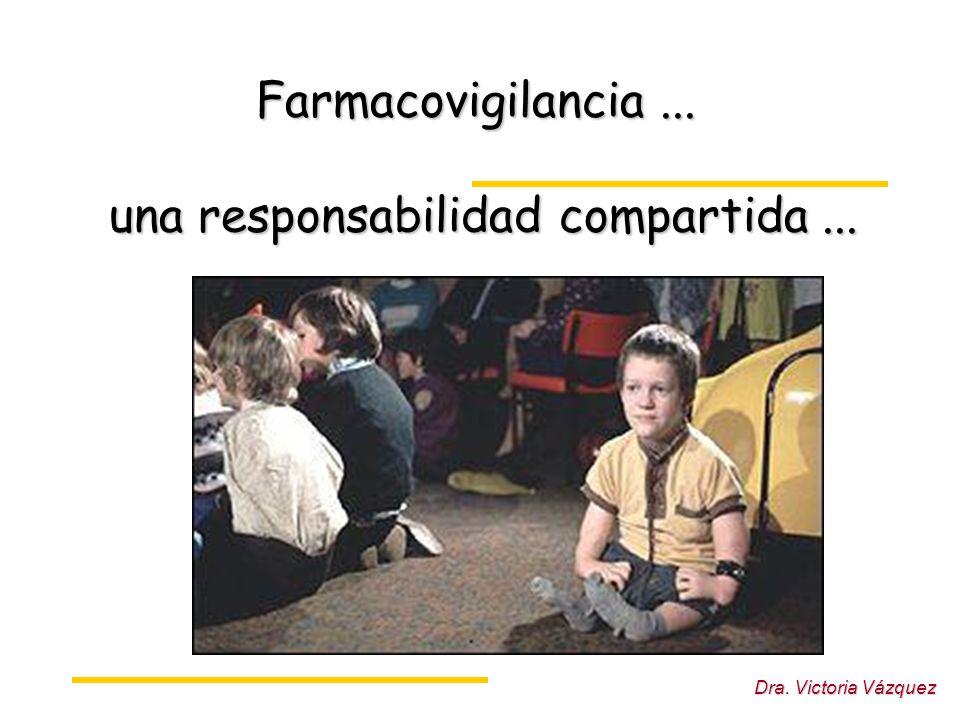 Farmacovigilancia ... una responsabilidad compartida ...