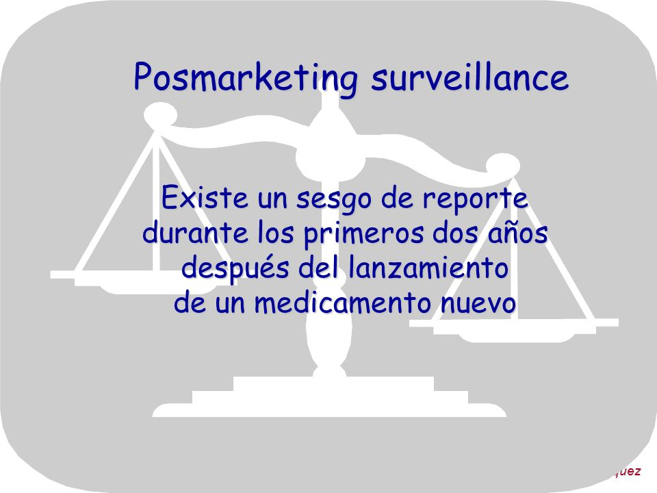 Posmarketing surveillance