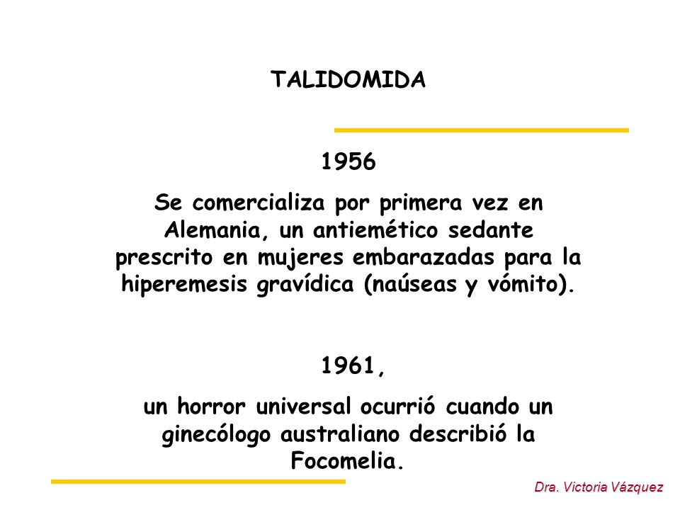 TALIDOMIDA 1956.
