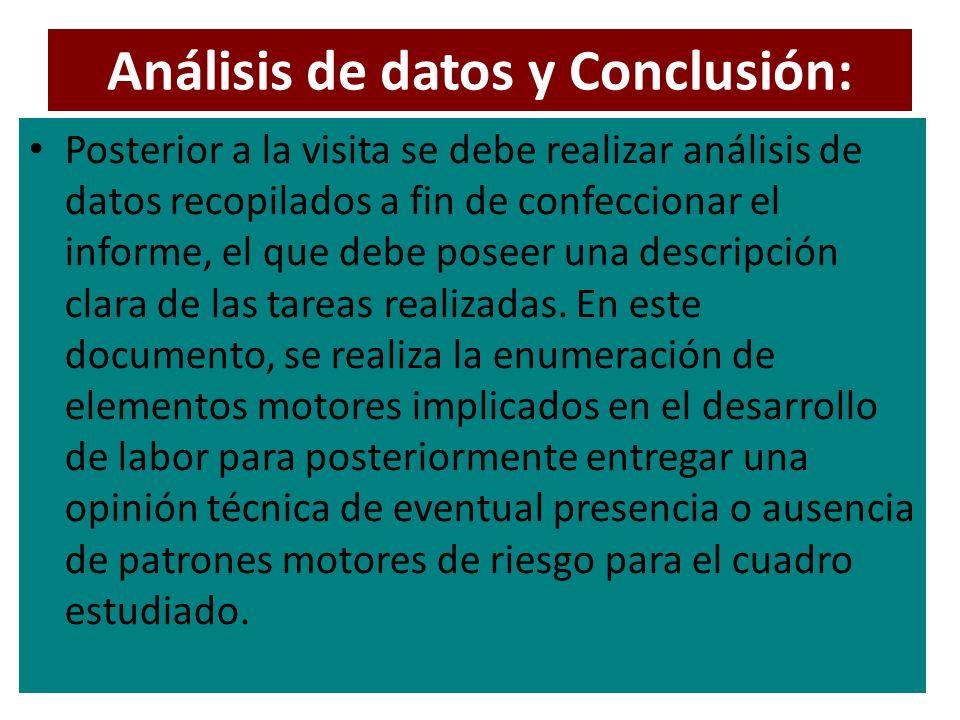 Análisis de datos y Conclusión: