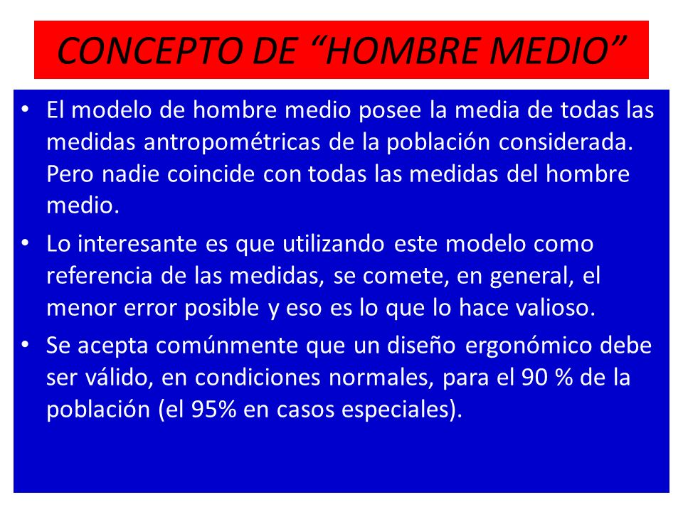 CONCEPTO DE HOMBRE MEDIO