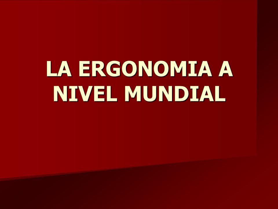 LA ERGONOMIA A NIVEL MUNDIAL