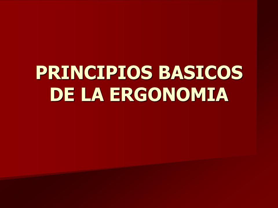 PRINCIPIOS BASICOS DE LA ERGONOMIA