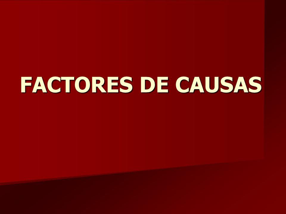 FACTORES DE CAUSAS