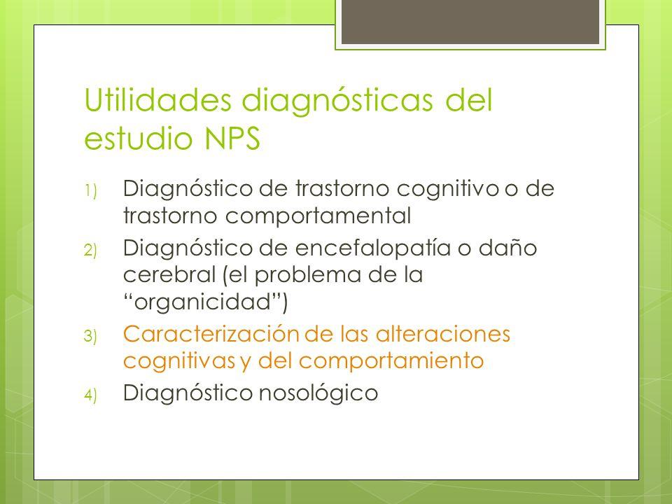 Utilidades diagnósticas del estudio NPS