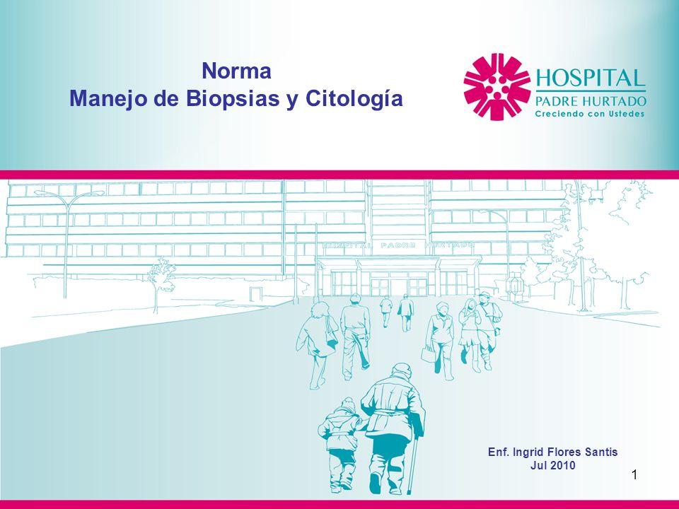 Norma Manejo de Biopsias y Citología