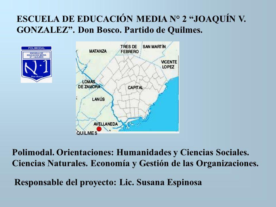 Responsable del proyecto: Lic. Susana Espinosa