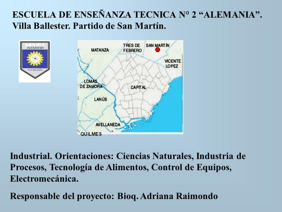 Responsable del proyecto: Bioq. Adriana Raimondo