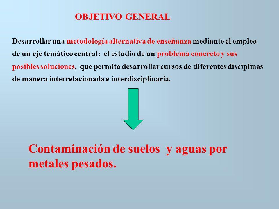 Contaminación de suelos y aguas por metales pesados.