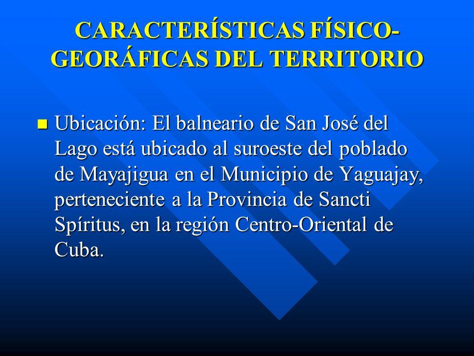 CARACTERÍSTICAS FÍSICO-GEORÁFICAS DEL TERRITORIO