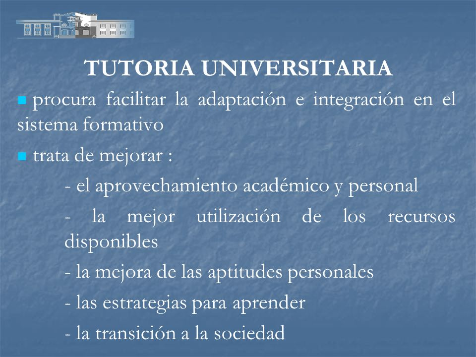 TUTORIA UNIVERSITARIA