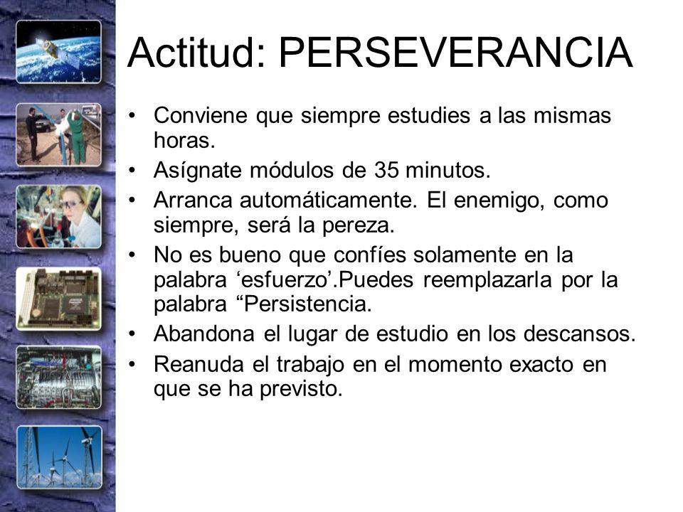 Actitud: PERSEVERANCIA