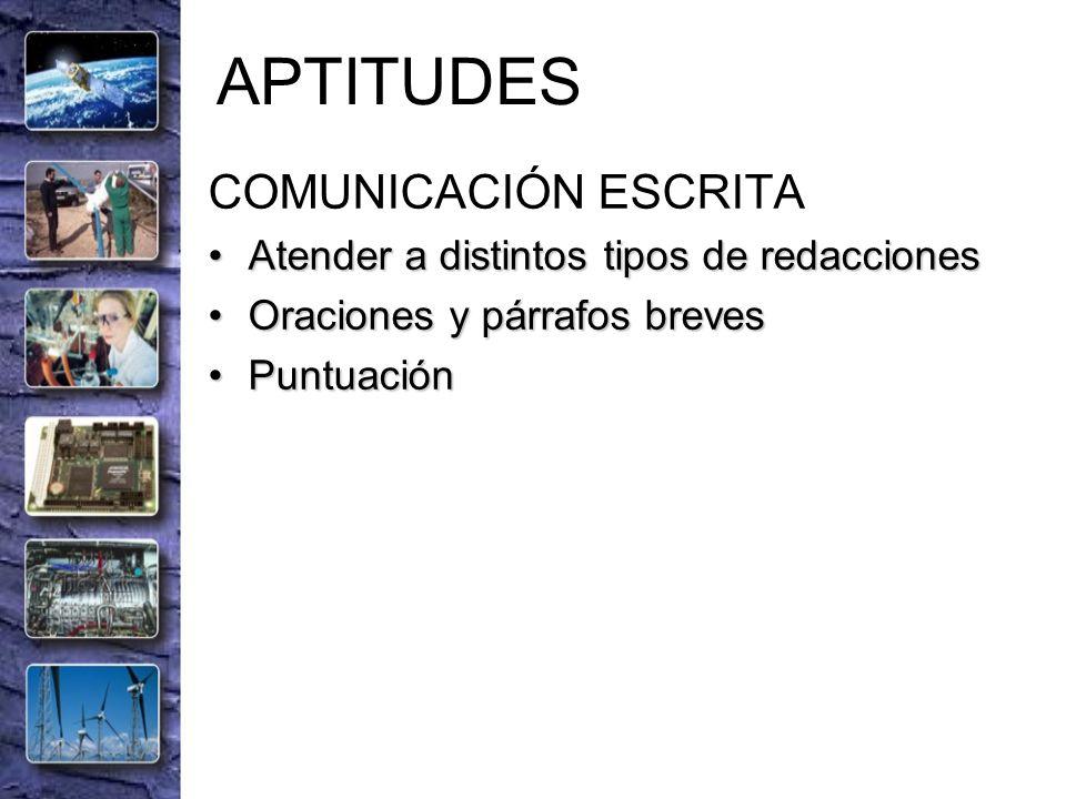 APTITUDES COMUNICACIÓN ESCRITA
