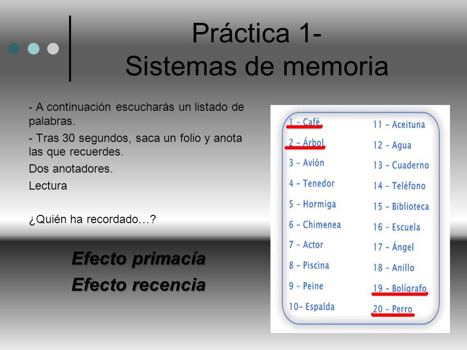 Práctica 1- Sistemas de memoria