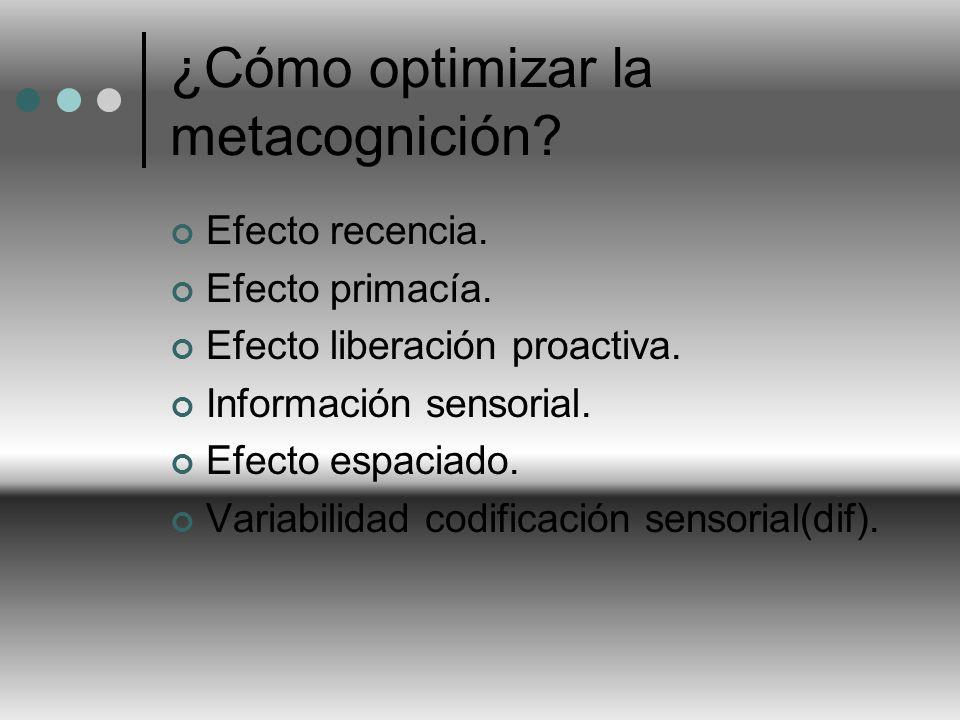 ¿Cómo optimizar la metacognición
