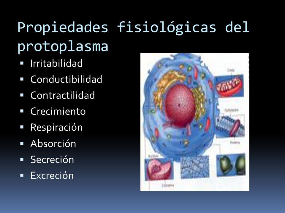 Propiedades fisiológicas del protoplasma