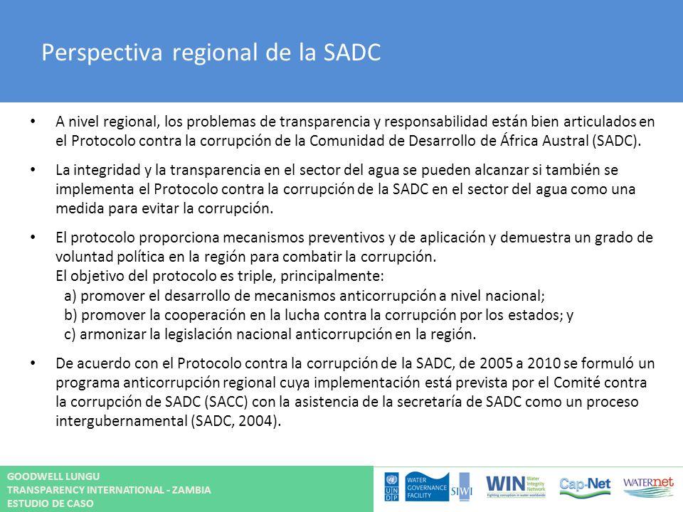 Perspectiva regional de la SADC