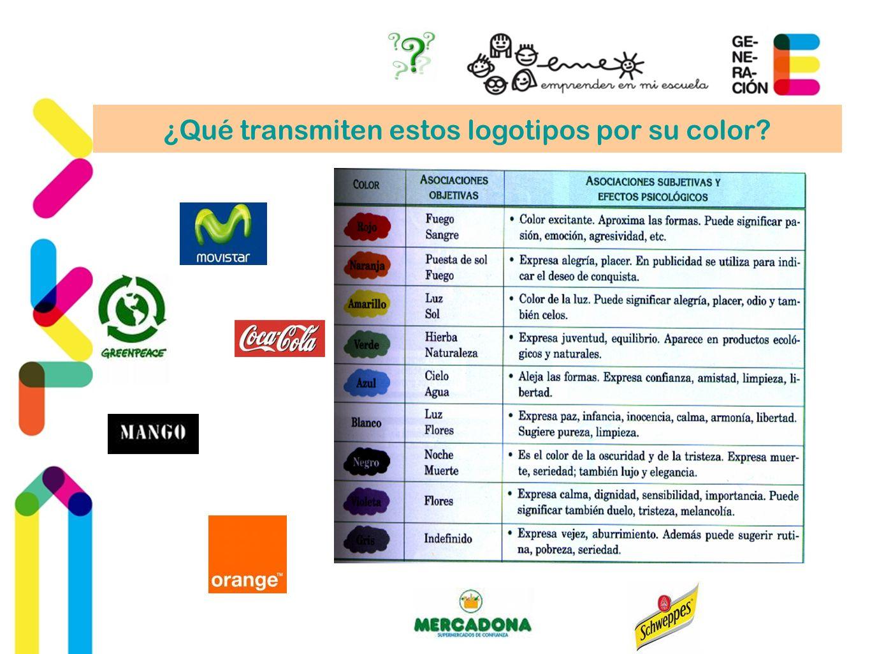 ¿Qué transmiten estos logotipos por su color