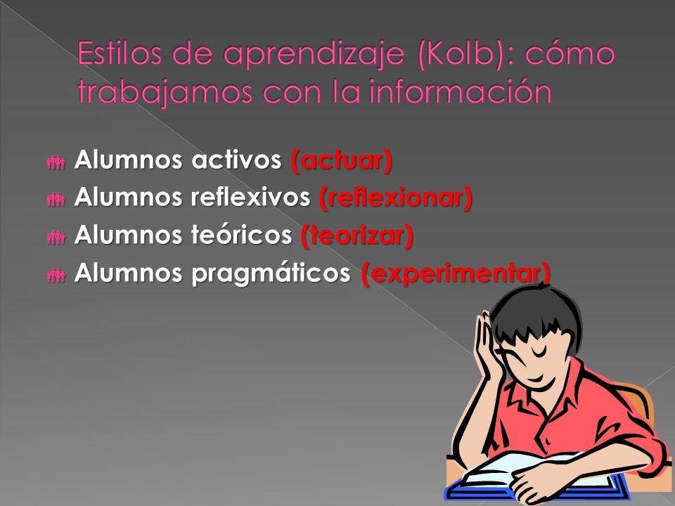 Estilos de aprendizaje (Kolb): cómo trabajamos con la información