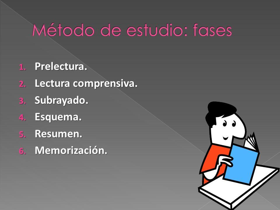 Método de estudio: fases