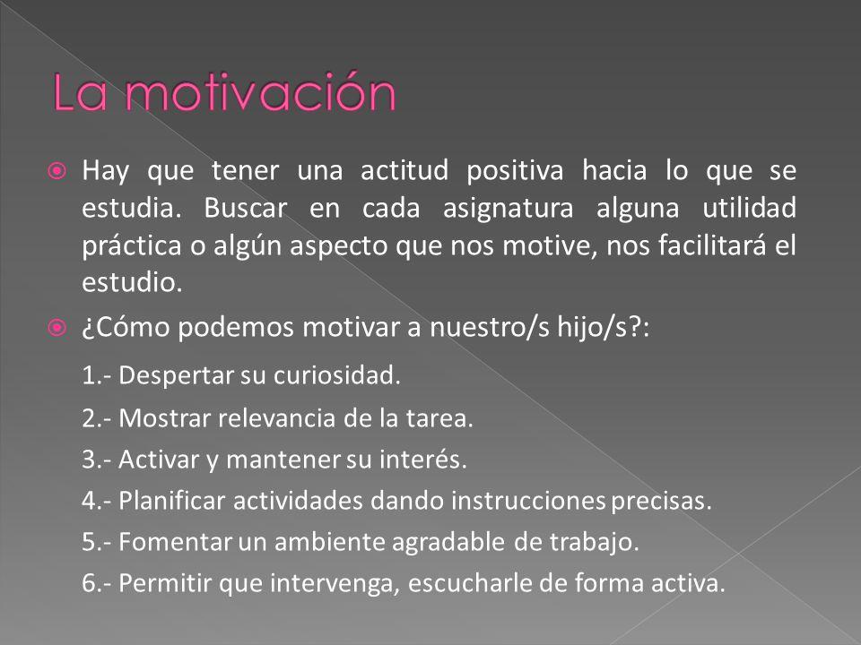 La motivación 1.- Despertar su curiosidad.