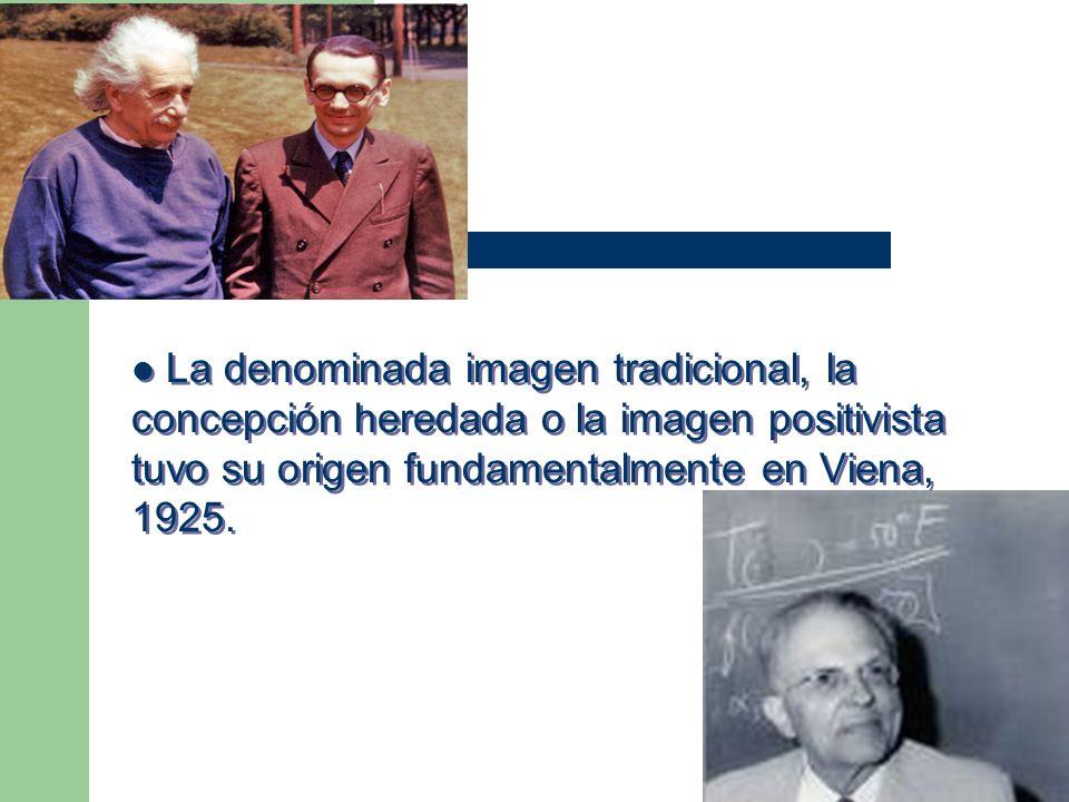 La denominada imagen tradicional, la concepción heredada o la imagen positivista tuvo su origen fundamentalmente en Viena, 1925.