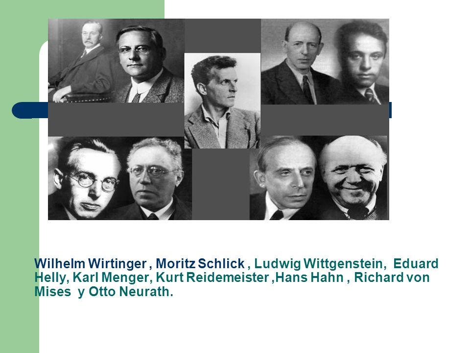 Wilhelm Wirtinger , Moritz Schlick , Ludwig Wittgenstein, Eduard Helly, Karl Menger, Kurt Reidemeister ,Hans Hahn , Richard von Mises y Otto Neurath.