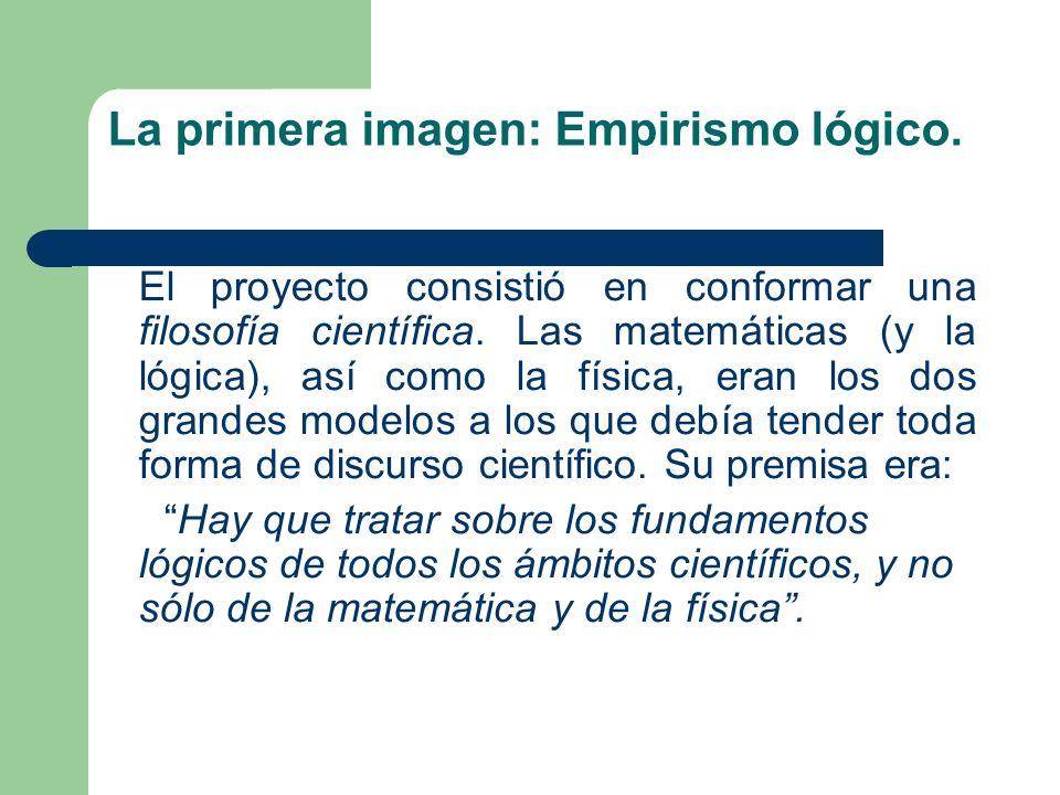La primera imagen: Empirismo lógico.