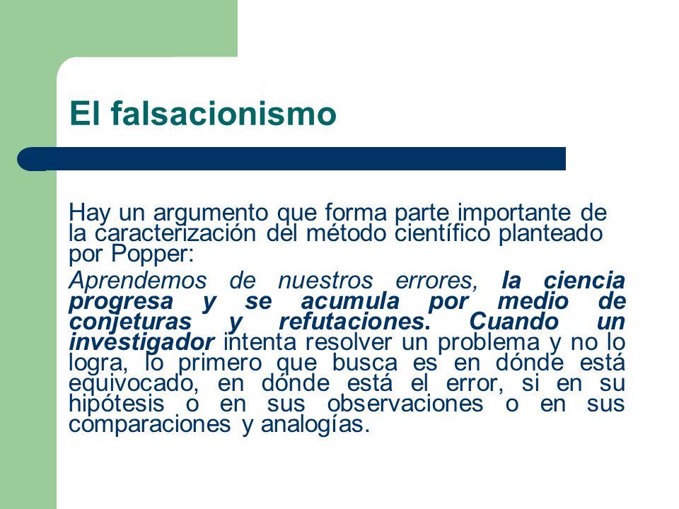 El falsacionismo