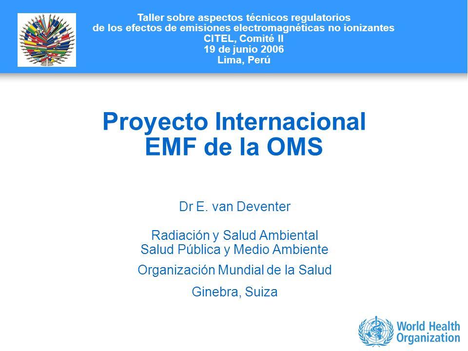 Proyecto Internacional EMF de la OMS